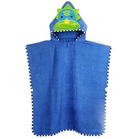 Mainaisi Asciugamani per bambini con cappuccio in cotone forma di animal di balneazione Wrap - Sveglio Del Dinosauro