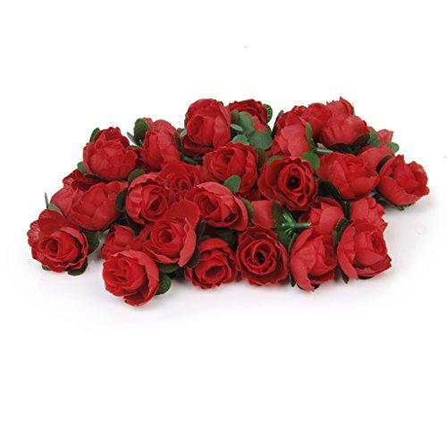50 X Artificiale Diy Fiore Di Rosa Di Seta Del Germoglio Per Il Matrimonio A Casa La Decorazione Del Giardino Rosso