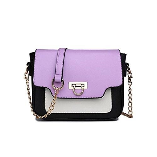 Miss Lulu ,  Damen Tornistertasche , Mehrfarbig - violett - Größe: Medium