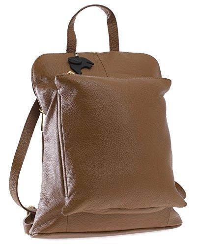 Big Handbag Shop, Borsa a zainetto donna Taglia unica Tan