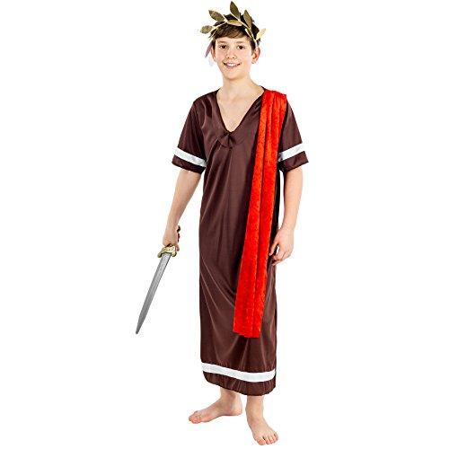 Jungen Kostüm römischer Kaiser | inkl. Elastischem Haarband in Lorbeerkranz-Optik + Kordel als Gürtel (12-14 Jahre | Nr. (Die Halloween Kostüme Ideen Für Besten Paare)