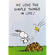 "Empire 209146 - Póster de Snoopy con texto ""We love the simple things in life!"" (70 x 100 cm)"
