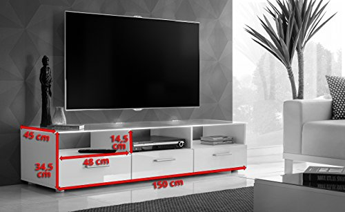 modern tv unit cabinet high gloss tv stand entertainment lowboard blue led lights t35 search. Black Bedroom Furniture Sets. Home Design Ideas