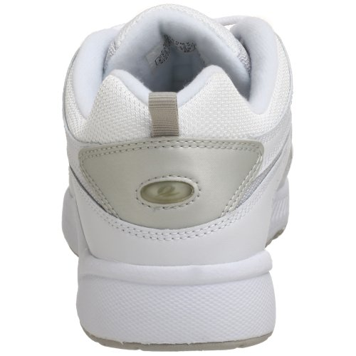 Easy Spirit Women's Romy White/Medium Blue Leather 6.5 M (B) White/Light Grey Leather