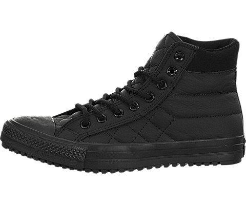 Converse All Star Black Quilted Leather Hi Top Trainers UK 8