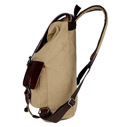 volyer Herren Leinwand Schule Rucksack Gepäck Tasche 38,1cm Khaki