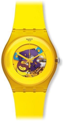 Swatch Mädchen-Armbanduhr Analog Plastik SUOJ100