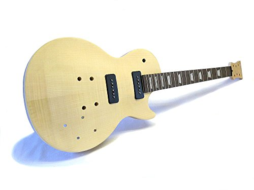 uitar DIY Kit ML-Factory® MLP P90 Flame Top Standard Mahagoni, P90 Pickups (P90 Pickups Gitarre)
