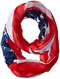 Steve Madden Women's American Heritage Infinity Red Scarf One Size