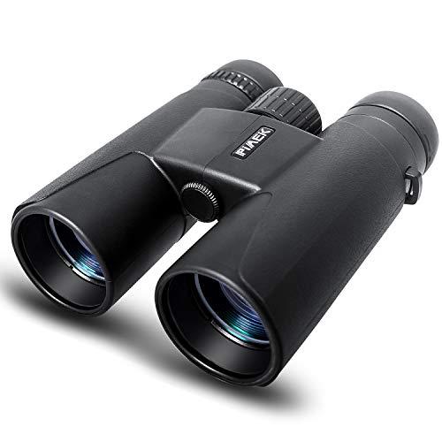 Prismáticos para adultos Niños, binoculares profesionales HD 10x42 compactos con soporte para teléfono inteligente para observación de aves, camping, senderismo-BAK4 Prisma Lente FMC con correa para el cuello / bolso de transporte