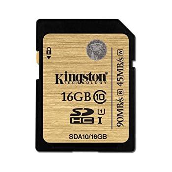 Kingston SDA10/16GB - Tarjeta SD Profesional de 16 GB (UHS-I SDHC/SDXC Clase 10)