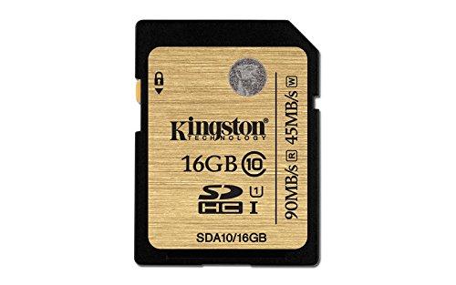 Kingston SDA10/16GB UHS-I SDHC/SDXC SD-Karte Klasse 10 Speicherkarte