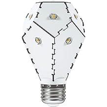 Nanoleaf One 800–Dimmbare Diseño LED Pera, con muy alta eficiencia [a + +, 850lúmenes, E27, 10 LED | 360° grados abstrahlung | 7,5W = 60W, duración: 30.000horas | 3000K]