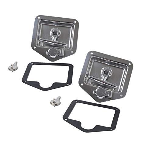 Preisvergleich Produktbild Jasnyfall Faltbarer T-Griff-Verschluss Edelstahl-Unterputz-Werkzeugkasten-Ve... Silber