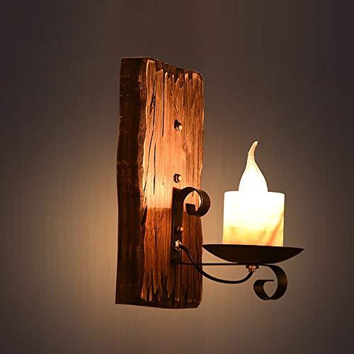 ZSAIMD Vintage rústico nórdico madera maciza hierro