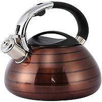 Juvale Stove Top té hervidor de agua–Hervidor de agua con silbido (acero inoxidable para té, café–3L