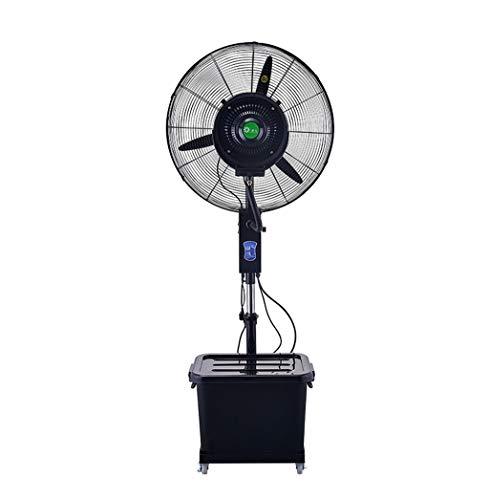 Standventilator Luftkühler Trommelventilator Oszillierender kühlender nebelhafter Spray-Ventilator groß für Industrie-Befeuchter 3-Speed   / 220W / 40L (Schwarzes) im Freien Luftbefeuchter