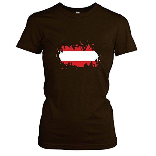 Texlab Splash Österreich - Damen T-Shirt Braun, XL