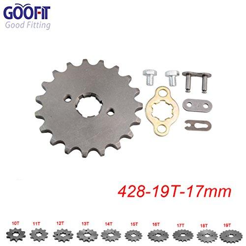 GOOFIT 428 19 T 17mm Motorrad Motor Kettenritzel Kettenräder Ritzel kleines Kettenrad For 50cc 70cc 90cc 110cc Motorcycle Dirtbike ATV Quad