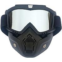 AnazoZ Gafas de Máscara Gafas Protectoras Viento Gafas de Moto Gafas Protectoras Viento Gafas de Esqui