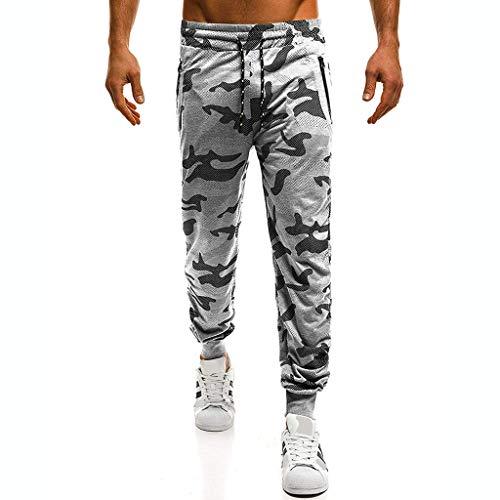 Memefood Pantalones de Camuflaje de los Hombres