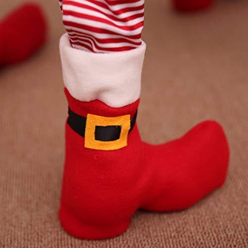 Weihnachten Stuhlbein Socken Wohnmöbel Bein Bodenschutz Abdeckung Rutschfeste Tischbeine Abdeckung Möbel Zubehör - rot