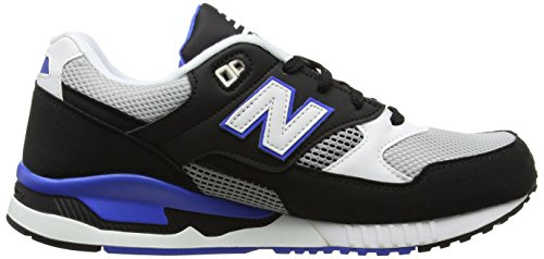 New Balance Lifestyle, Sneakers Basses Homme Multicolore (Black/Blue)