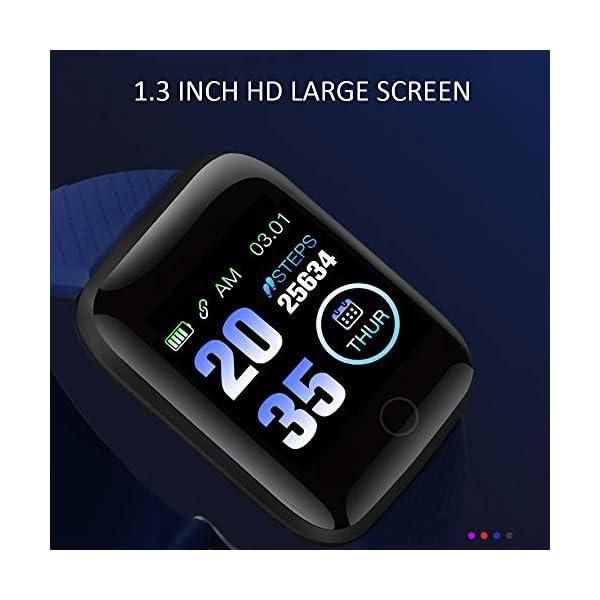 Smart Fitness Tracker Watch, IP67 Impermeable Reloj Inteligente con Contador de Pasos Monitor de sueño, podómetro Reloj para Hombres Mujeres niños 5