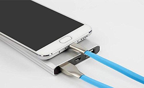 Fast Charge Cavo USB Lightning per RICARICA RAPIDA 2.1A con connettori in ALLUMINIO per Apple iPhone 5 5s 6 6s 7 7s Plus iPad Air 2 Pro 12.9 9.7, VERDE Fast Charge Bianco