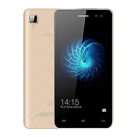 Leagoo Alfa 6 Android 4.4 MTK6582 Quad Core 1.3Hz Smartphone 1GB RAM 8GM ROM 4.5 pouces IPS 5MP Caméra 3G WCDMA Téléphone Dual SIM