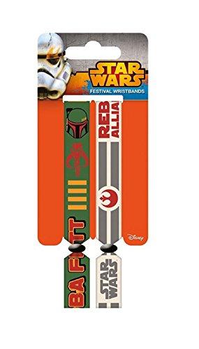 Preisvergleich Produktbild Star Wars Wristbands Rebellion boba fett Nue offiziell 2 x Fabric Strap Festival