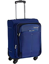 American Tourister Crete Polyester 55 cm Ink Blue Softsided Carry On (49W (0) 01 001)