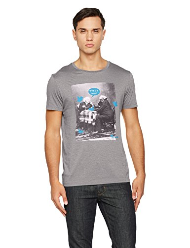 BOSS Orange Herren T-Shirt Totally 1 10139980 Grau (Light/Pastel Grey 051)