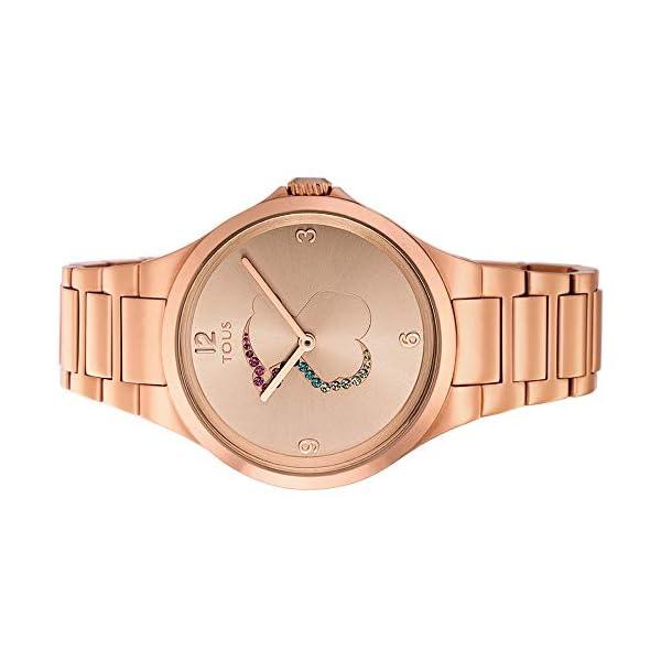 Reloj tous 700350210 Motion de acero IP rosado con cristales de colores