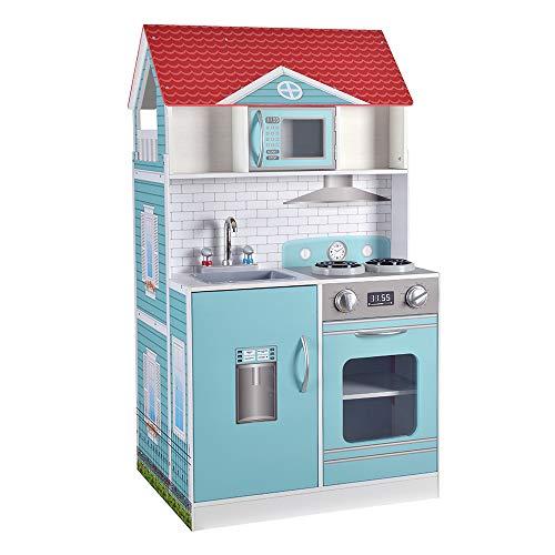 ColorBaby - Cocina & Casa muñecas 2 en 1 - 90 x 48 x 107 cm (85292)