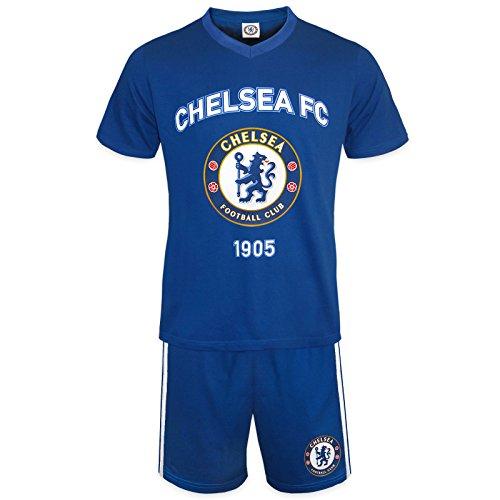 Chelsea F.C. Chelsea FC Official Football Gift Mens Loungewear Short Pyjamas Blue Medium