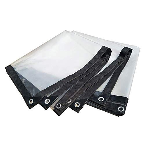 GUHAIBO Bâche Transparente avec œillets - Étanche Bâche de Protection Couverture extérieure résistante aux déchirures et aux déchirures, Bâche à bûches,2x4m