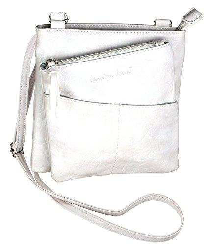 Jennifer Jones Taschen Damen Damentasche Handtasche Schultertasche Umhängetasche Tasche klein Crossbody Bag offwhite (3106) -