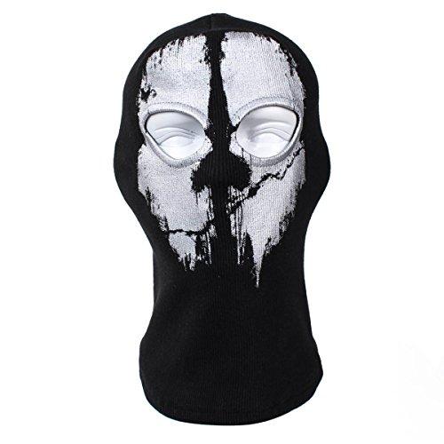 Sturmhaube Ghost Winter für Herren Damen Face Shield Ski Motorrad Paintball Airsoft Halloween Maske (Ghosts Call Duty Of Halloween-maske)