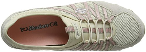 Skechers Bikers - Hot-ticket, Damen Ausbilder, Beige (Natural/taupe), 39.5 EU - 7