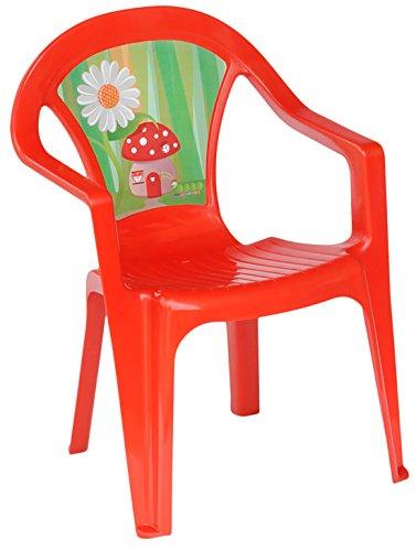 woodienchen - Kindergartenstuhl Hochlehner mit Motiv, 32x38x52 cm, Rot (Sitzgelegenheiten Rasen)
