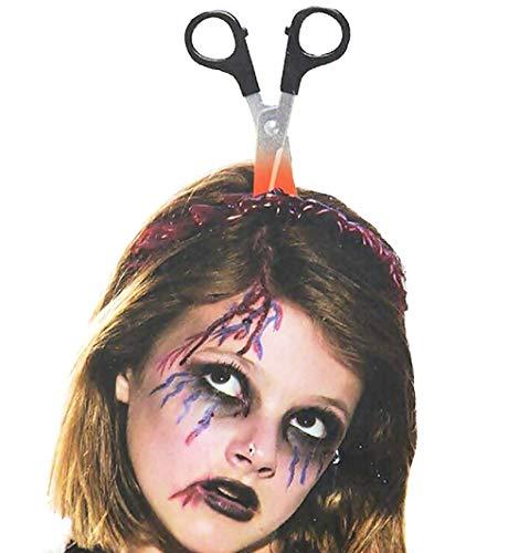 Inception pro infinite cerchietto per capelli con forbici - effetto sanguinante - zombie - horror - travestimenti - halloween - carnevale