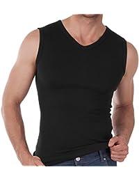 Herren V-Neck Muscle Shirt Feinripp - Sleeveless T-Shirt - 100% gekämmte Baumwolle - versch. Farben und Größen S-3XL wählbar - Highest Standard - Einlaufvorbehandelt - original CELODORO Exclusive