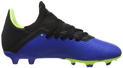 adidas Boys  X 18 3 Fg J Shoes   Football Blue Solar Yellow Core Black   2 UK 2 UK