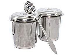 Turtle Kitchen Teesieb 2er-Pack für Losen Tee Inklusive Teelöffel, Passend für Tassen und Kannen, Rostfreier Edelstahl