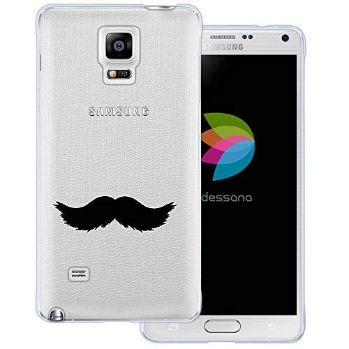 (dessana Mustache Transparente Schutzhülle Handy Case Cover Tasche für Samsung Galaxy Note 4 Walross Bart)
