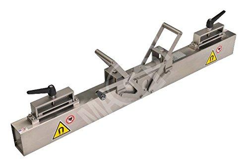 Lagerino - Magnetbesen für Gabelstapler Premium - Breite 1500 mm - für Stapler, aus Edelstahl - mit einfacher Entmagnetisierung