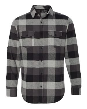 Burnside Woven Plaid Flannel Shirt, Größe:M, Farbe:Black Check (Check Flannel Black)