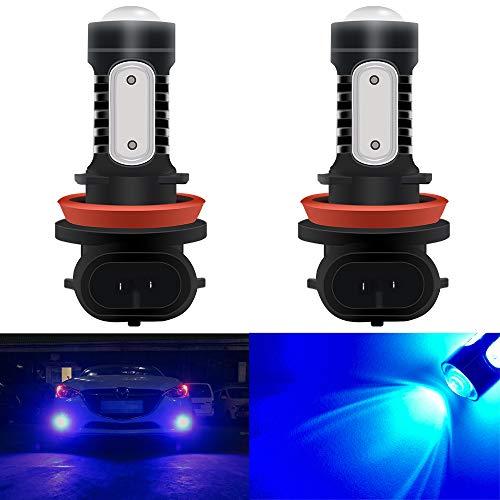 2pz H11 / H8 LED Faro Lampadina in alluminio ad alta luminosità COB Auto Fendinebbia Lampadine fari DRL Blu 6000k 12V 7.5W 1500 Lumen