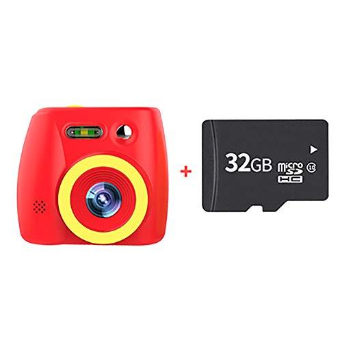 SHARESUN Kinder Digitalkamera 20MP SLR-Kamera 1080P HD-Videokamera für Mädchen/Jungen Geschenke - 2,0-Zoll-HD-Großbild-Action-Video-Camcorder, 32 GB TF-Karte enthalten,Red